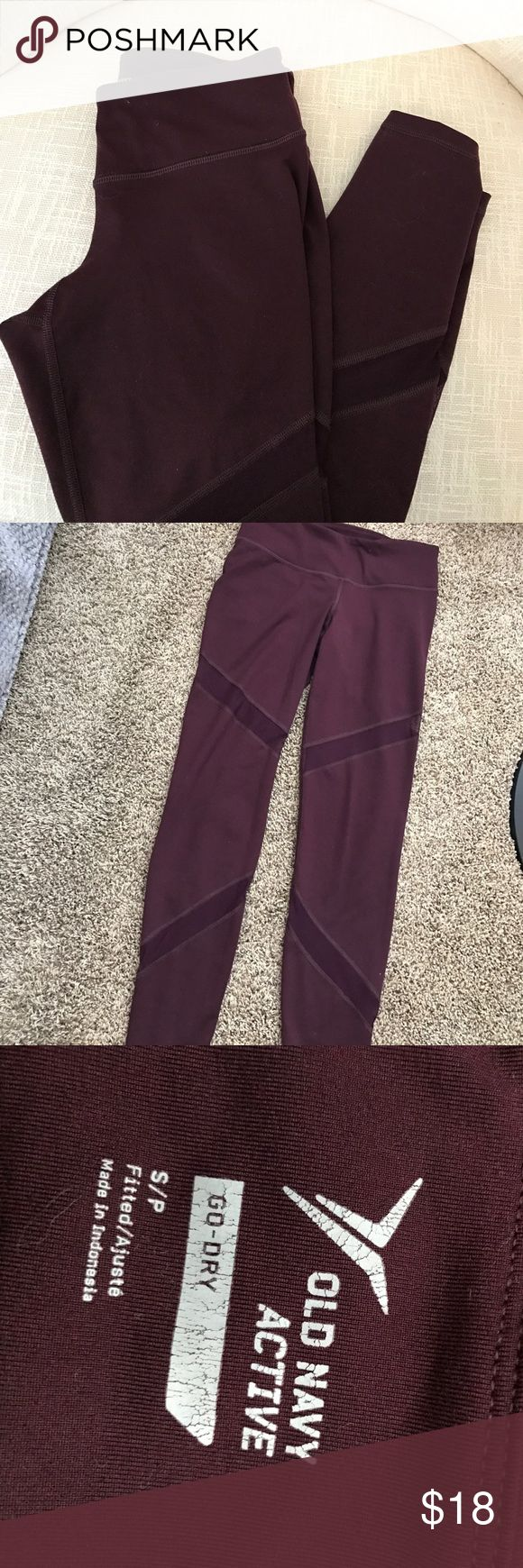 Maroon Mesh Old Navy Leggings Only worn a handful of times. Extremely cute leggings. Definitely a favorite pair I've had, but need to slim down my leggings collection. Old Navy Pants Leggings