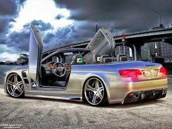 BMW E93 M3 silver cabrio slammed lambo doors | BMW ...