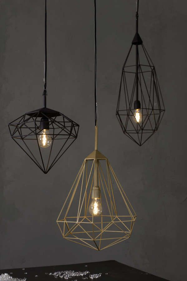 Precious Gem-Inspired Lighting - Diamonds for Jspr are Beautifully Faceted and Geometric (GALLERY)