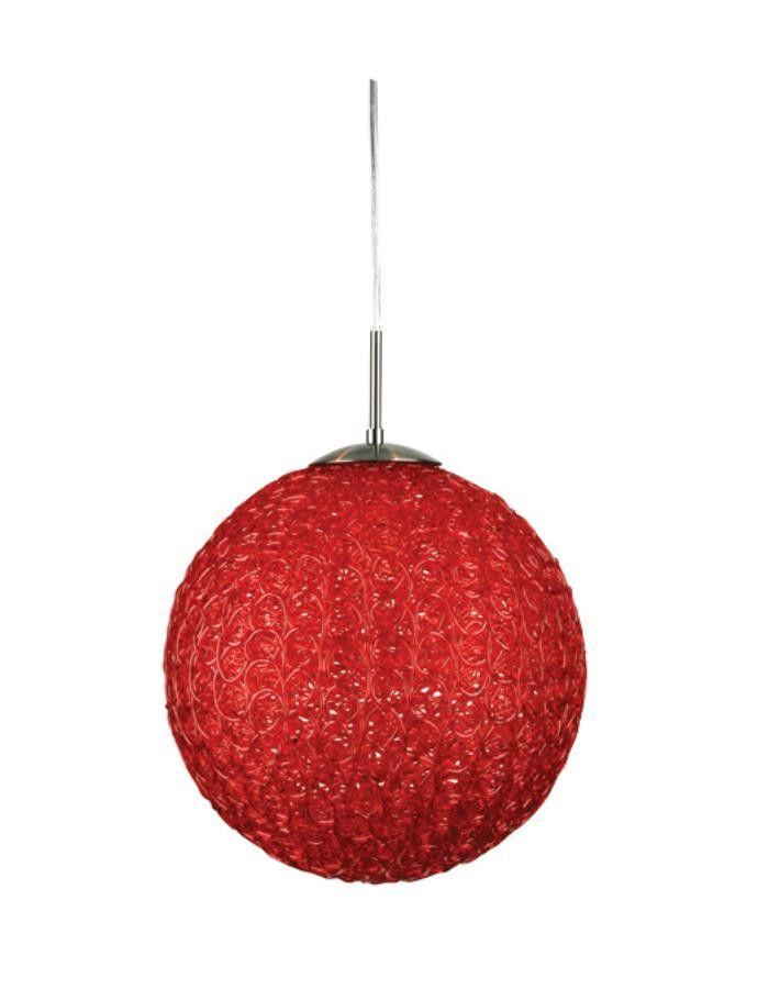 Red Artik Round Globe Pendant Lights – Chic Chandeliers