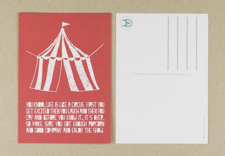 Muumuru postcard: Circus Tent