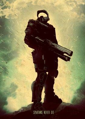 Gift For the Nerd: gaming posters made out of metal halo master chief spartans