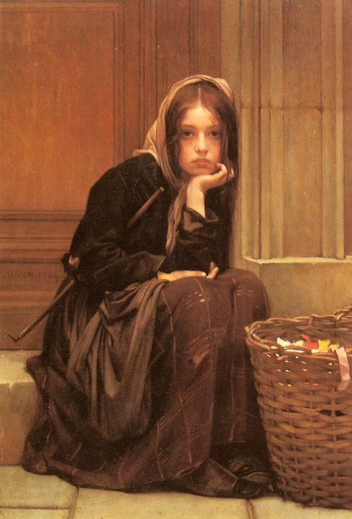 Christen Brun - A Basket Of Ribbons by Christen Brun (Norwegian)