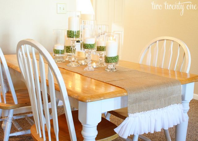 Ruffled Burlap Table Runner {How to Cut Burlap} {DIY}, DIY Handmade Gifts for the Holidays, Mohawk Homescapes