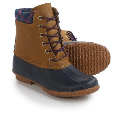 Cougar Roger Duck Pac Boots (For Women) in Navy/Tan