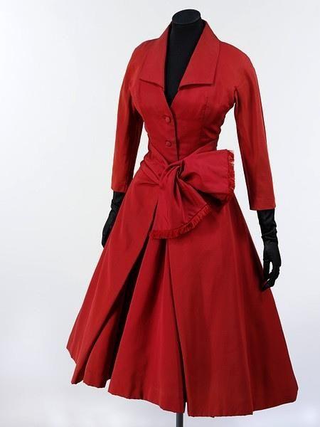 vintage Dior red dress