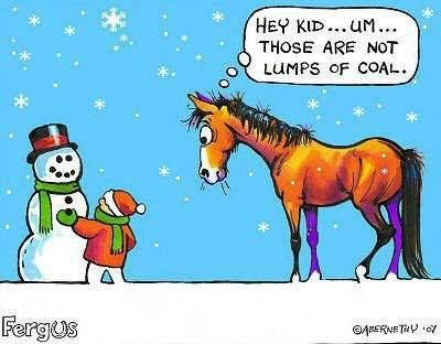 Some horse humor! Lol!                                                                                                                                                      More