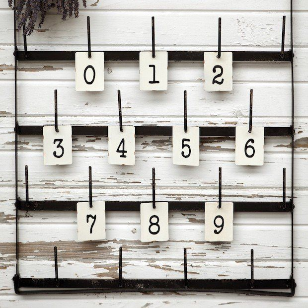 metal number tags | vintage metal numbers
