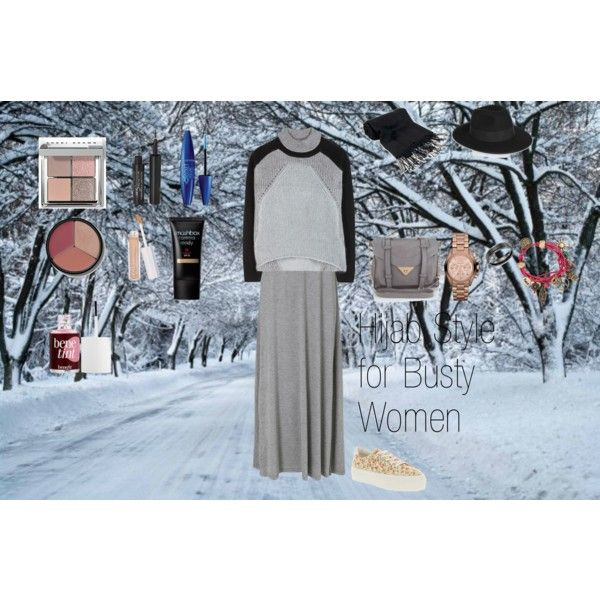 """""""Hijab style for Busty Women"""" by fabsmusician on Polyvore"""