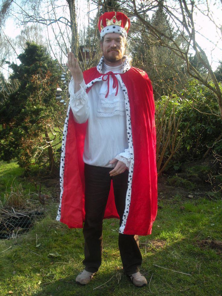 Königskostüm für die Ritter- oder Prinzessinnen- und Elfenkiste