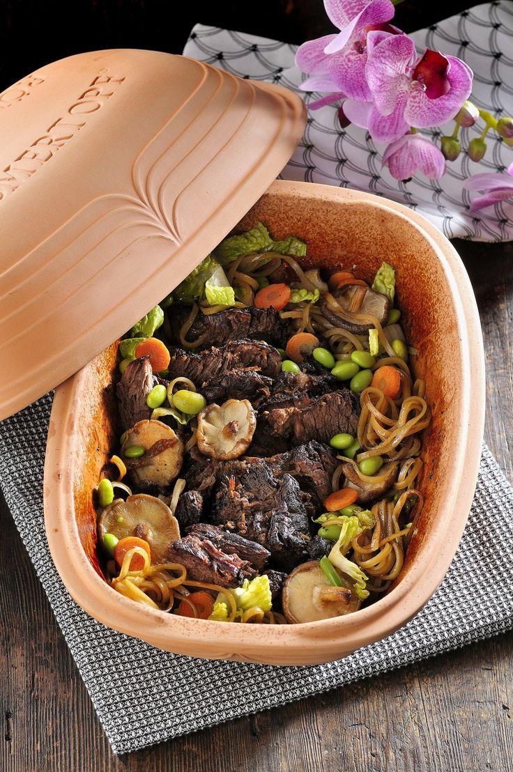 Högrev på japanska! Tillbehören och kryddorna ger asiatisk touch utan att konstra till det.