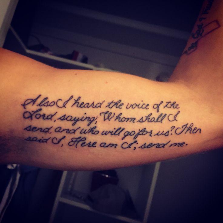 My newest tattoo. Isaiah 6:8