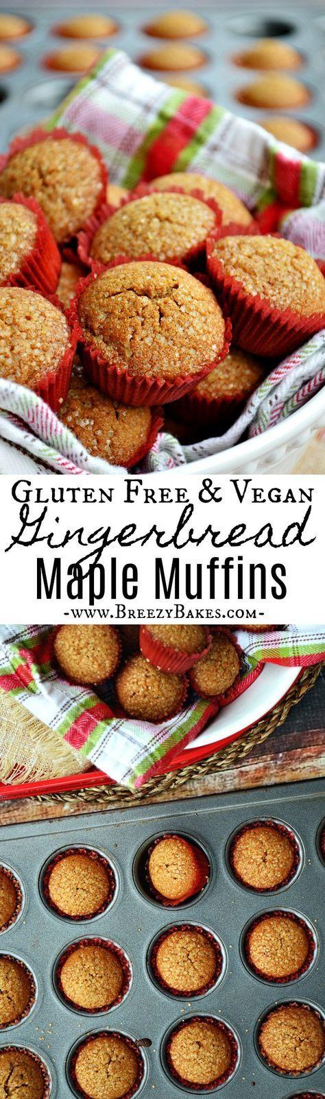 Gluten Free Vegan Gingerbread Muffins