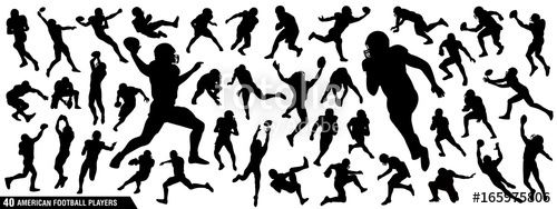 "Download the royalty-free vector ""American Football Players Silhouettes , vector pack, various pose set"" designed by EdNal at the lowest price on Fotolia.com. Browse our cheap image bank online to find the perfect stock vector for your marketing projects!"
