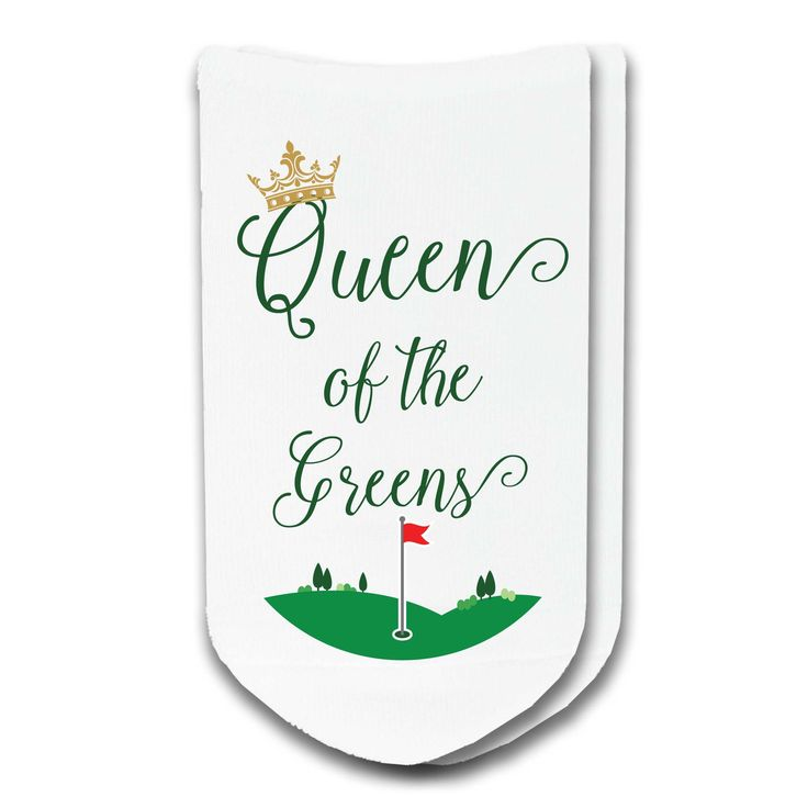 Queen of the Greens! Our ladies golf socks make a great addition to your golf wardrobe and they are great gifts too! Socks are sold by the pair and are availabl