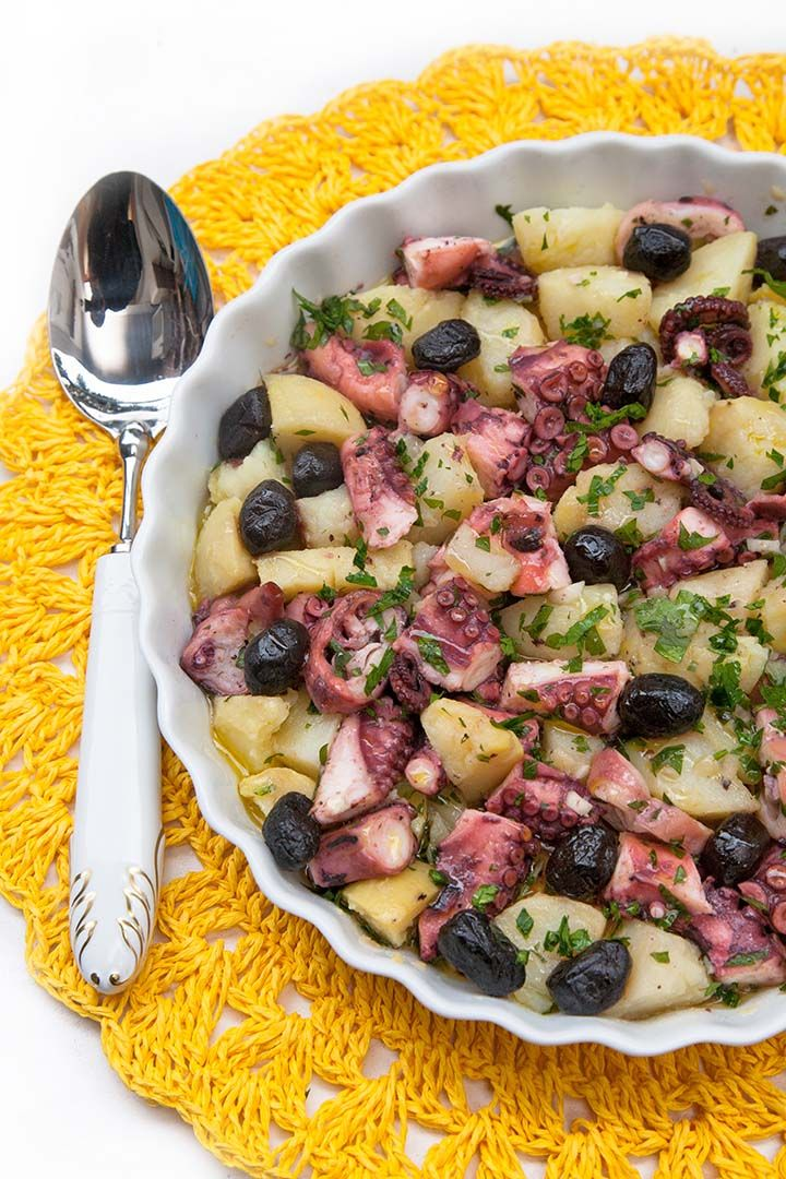 Polpo e patate in insalata con olive Citres