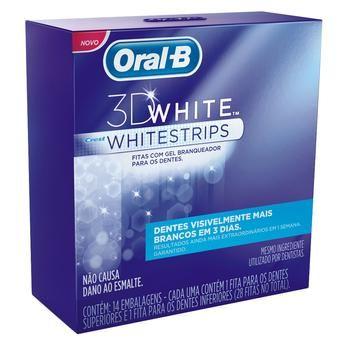 Fita Dental Branqueadora Whitestrips Oral B - 14 Unidades