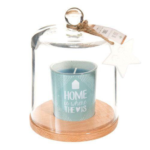 Candela blu sotto la campana di vetro H 15 cm ÉTOILE POLAIRE