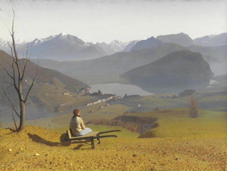 poboh:  La stretta di lavena, lago di lugano / The close of lavena, lake, Oreste Albertini. Italian (1887 - 1953)