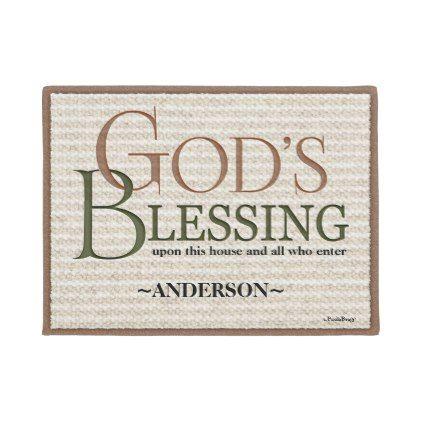 #God's Blessing: Personalized Victorian Doormat - #doormats #home & #living
