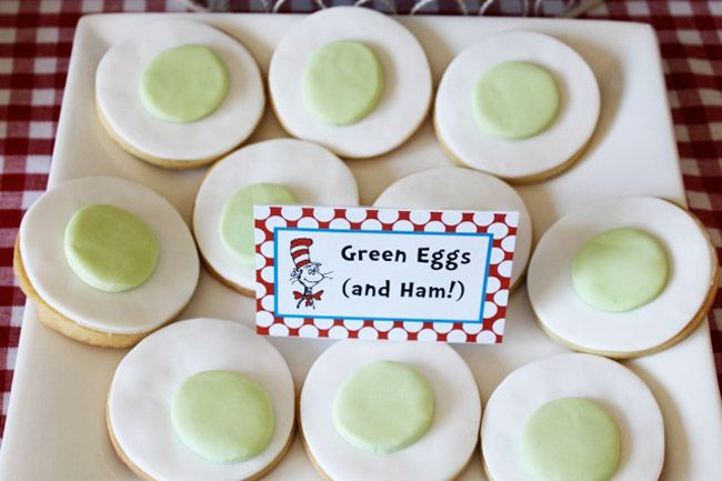 I will not eat green eggs and ham cookies. Happy Birthday Dr. Seuss!