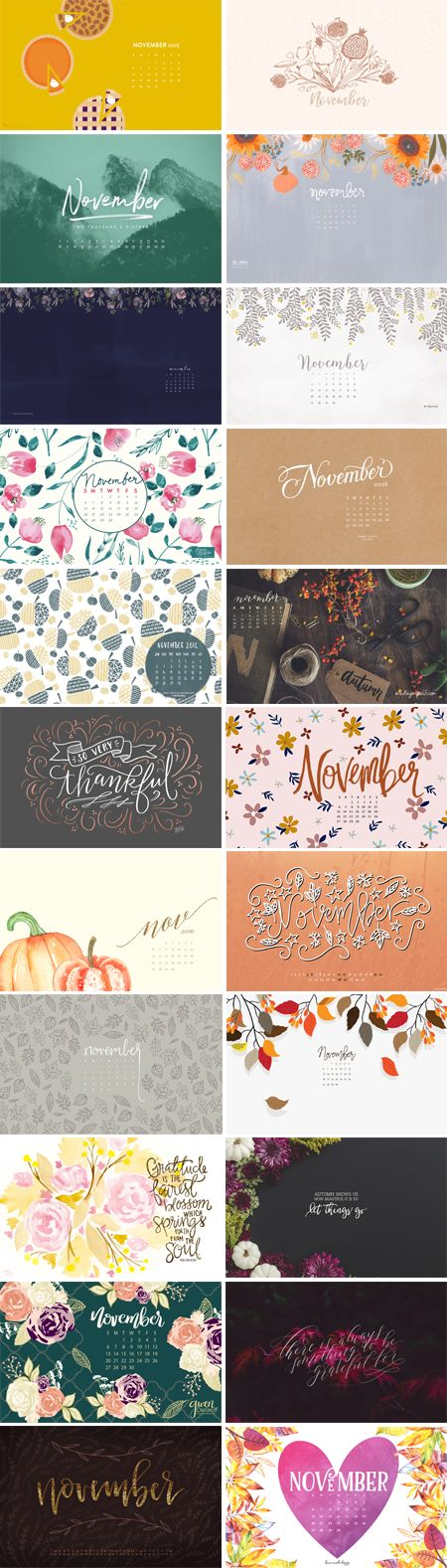 Happy November to you all! It's officially fall when my hair goes dark, and I finally pulled the trigger a few days ago! Hope you have a phenomenal month and spend some quality time with loved ones for Thanksgiving, and of course Black Friday ;) 1. Sarah Hearts | 2. Gypsee Art | 3. Paper…