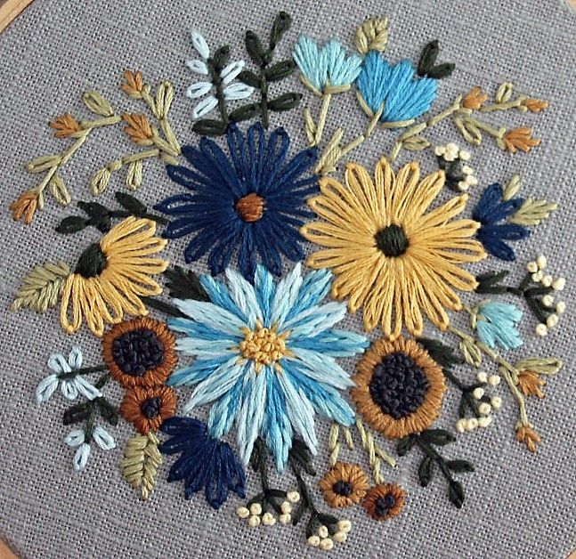 Embroidery Stitchery Beautiful Color  Palette!! Image Only No Link. jwt