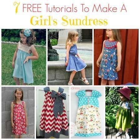 7 free tutorials for girl's sundress