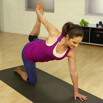 Blast Back Fat With Yoga: There's no miracle move to diminish the extra flesh that gathers at the waistline of your jeans