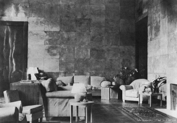 The main salon of the de Noailles' Paris hôtel particulier when first installed by Jean-Michel Frank. Photographed by Man Ray in 1929.