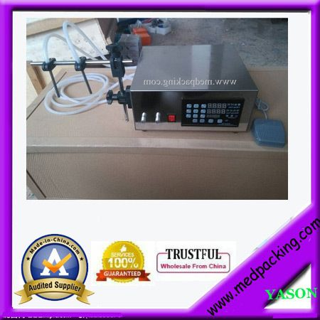 double heads Digital Control Liquid Filling Machine Controled By Micro-computer Anti-dripping3-3000ml very precisely GRIND