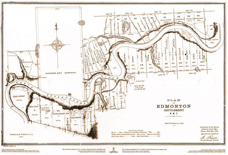 Plan of Edmonton Settlement, N.W.T (1883)