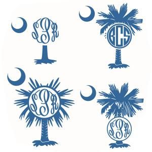 Palm Tree Palmetto South Carolina with the Moon Pack Monogram Round Circle Frame Cuttable Design Cut File. Vector, Clipart, Digital Scrapbooking Download, Available in JPEG, PDF, EPS, DXF and SVG. Works with Cricut, Design Space, Sure Cuts A Lot, Make the Cut!, Inkscape, CorelDraw, Adobe Illustrator, Silhouette Cameo, Brother ScanNCut and other compatible software.
