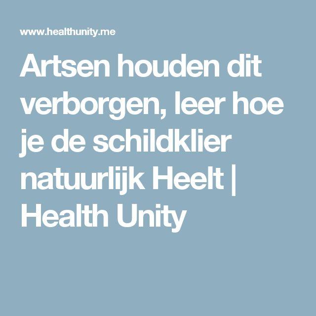 Artsen houden dit verborgen, leer hoe je de schildklier natuurlijk Heelt | Health Unity