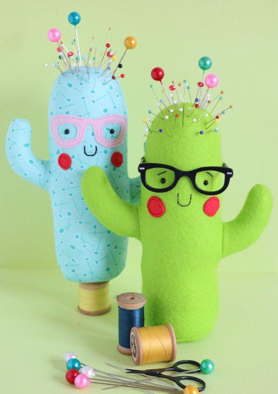 Totally cactus: Cactus pin cushion cactus sewing PDF easy