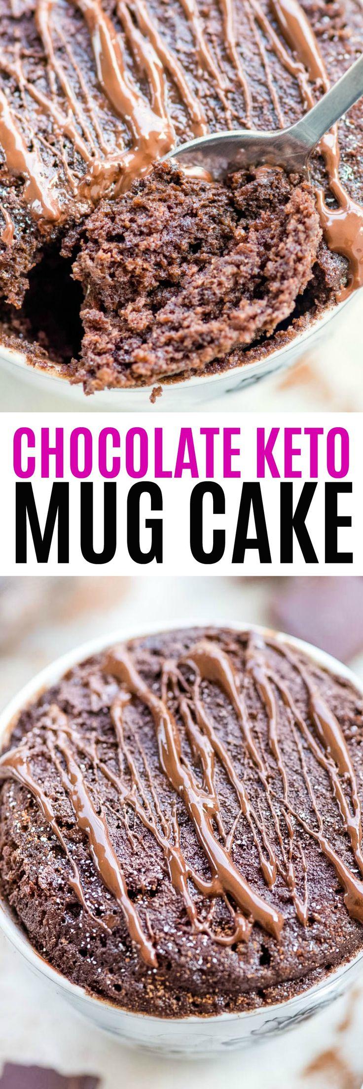 Chocolate Keto Mug Cake is perfectly moist and easy to ...