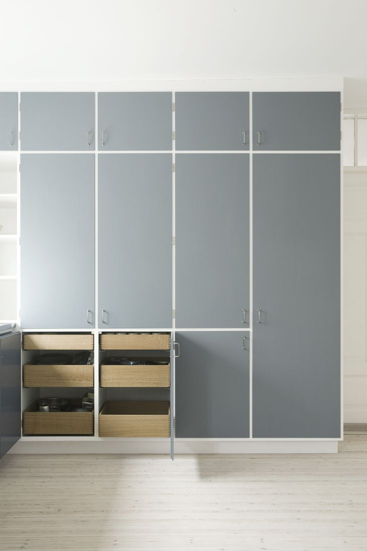New kitchen: The finger-jointed oak drawers provide a warm contrast to the painted surfaces