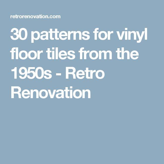 30 patterns for vinyl floor tiles from the 1950s - Retro Renovation