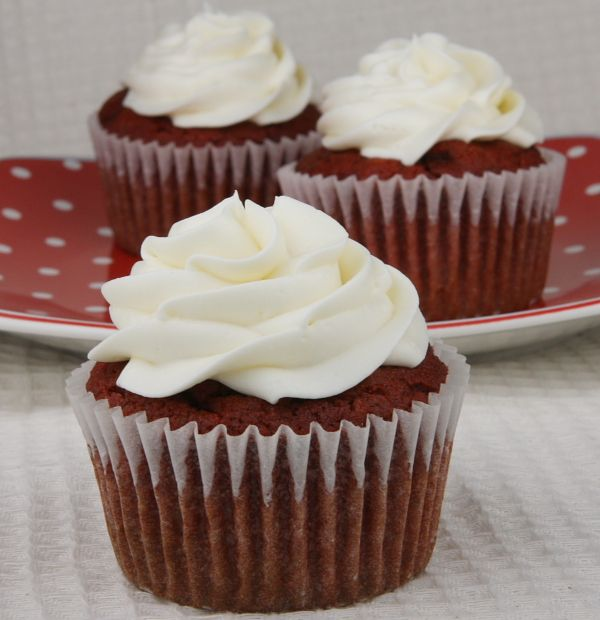 Gluten Free Red Velvet Cupcakes w/ Cream Cheese Frosting  (also nut free!). Not exactly strict paleo (because of cream cheese), but these were DELICIOUS!