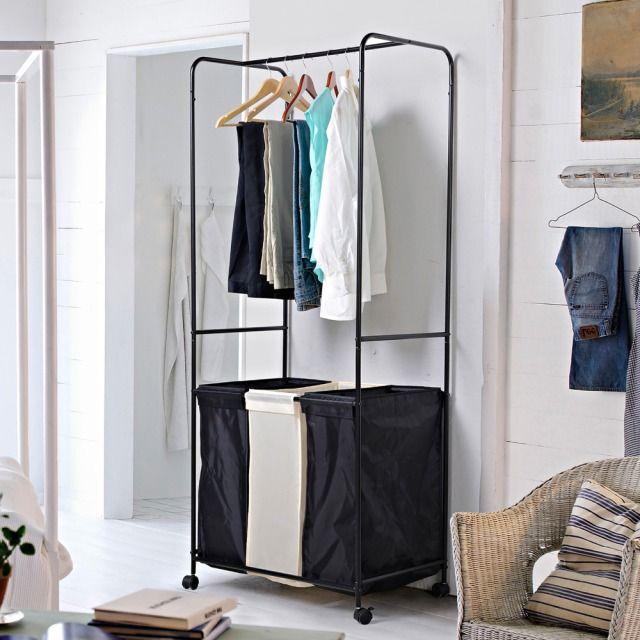 homestar 3 basket allinone laundry hamper