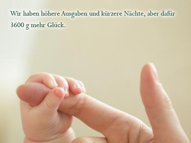 Die schönsten Sprüche zur Geburt: Kürzere Nächte