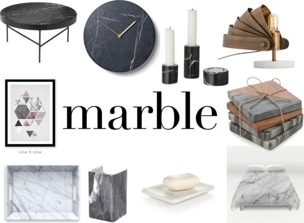 Add Norwegian Lifestyle: Friday Finds Marble Home Decor