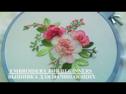 Bordado para flores - YouTube