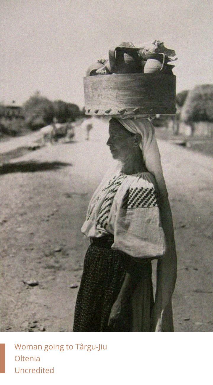 Woman going to Târgu-Jiu, Oltenia, Romania - Uncredited
