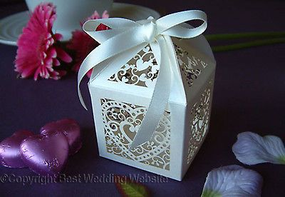 NEW - Luxury Wedding Sweets Favour Boxes Wedding Favours Table Decorations £27 for 50