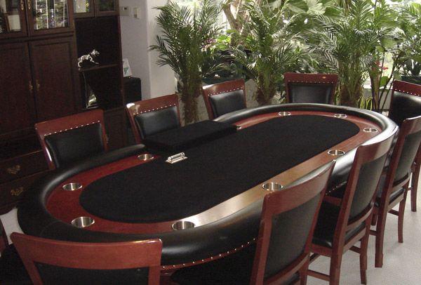 Custom Poker Tables   custom poker table this is warren s 108 x 48 oval custom poker table ...