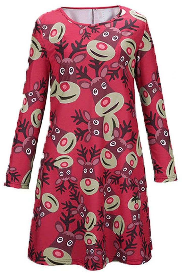 'member the cute reindeer print in Christmas green and red? It's all about the Christmas spirit.