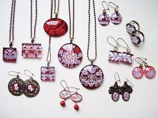 hungarian design - glass jewelry