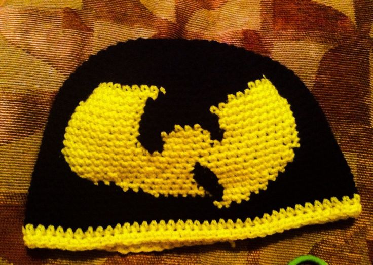 A personal favorite from my Etsy shop https://www.etsy.com/listing/217682062/wu-tang-inspired-crochet-beanie