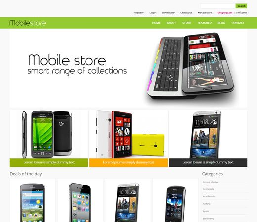 Mobile Store Free #Responsive #HTML5 #CSS3 #Mobileweb Template